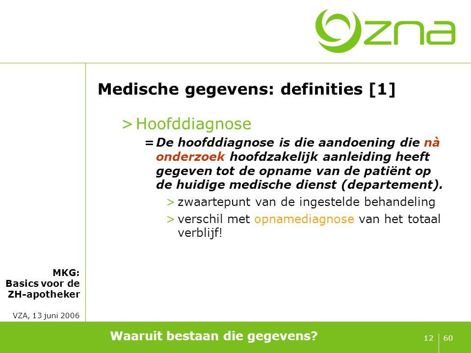 Medische gegevens: definities [2]